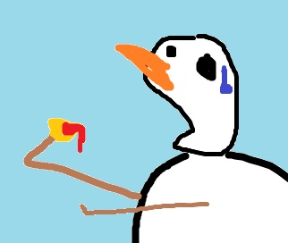 snowmanchipsalsamexicanfoodeat